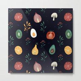 Vegetables pattern Metal Print