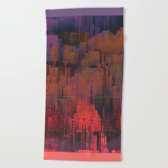 Urban Poetry in the Floating Town / 27-11-16 Beach Towel