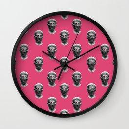 Head pink pattern Wall Clock