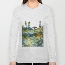 Abu Dhabi City Skyline Long Sleeve T-shirt