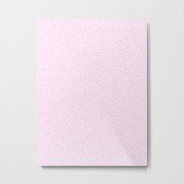 Melange - White and Classic Rose Pink Metal Print