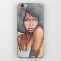 mermaid iPhone & iPod Skins featuring Mermaid by Bárbara  Kramer