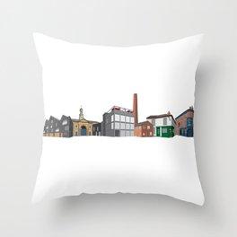 Kelham Island Streetscene Throw Pillow