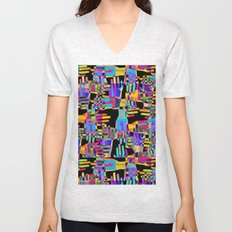 Colorful hands Unisex V-Neck