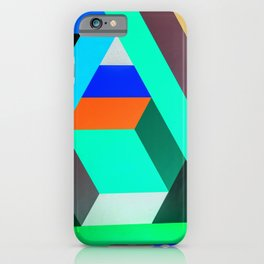 Teal Geometric Artwork - Abstract Pattern iPhone Case