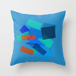 Retracting in Motion Throw Pillow