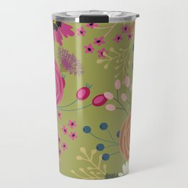 Verde Floral Travel Mug