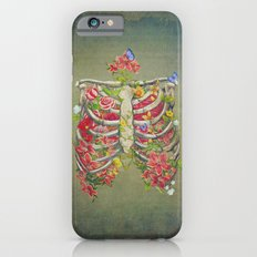 Blooming skeleton on the grunge background  Slim Case iPhone 6s