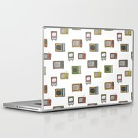 tv Laptop & iPad Skins featuring television by Kelly Tucker