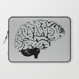 Braaains (black on grey) Laptop Sleeve