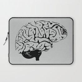 Braaains (black on grey) Laptop Sleeve
