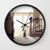 lily Wall Clocks featuring Lily by Rachel Bellinsky