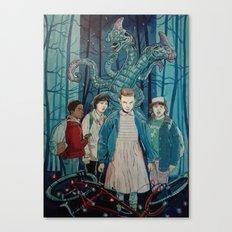 Stranger Things artwork painting Canvas Print