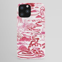 Magenta Toile Landscape iPhone Case