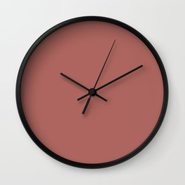 Marsala Color Matte 2015 Wall Clock
