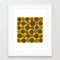 kiwi Framed Art Prints featuring Kiwi by Nemki