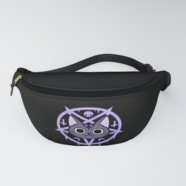 Black Meowgic 03 Fanny Pack