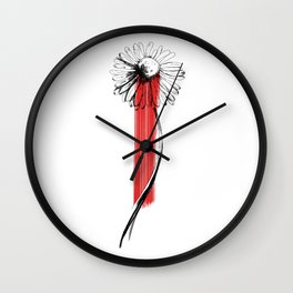 Bloody Daisy Wall Clock