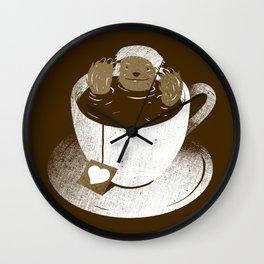 Monday Bath Sloth Coffee Wall Clock