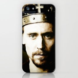 """King Henry V """"Uneasy lies the head that wears a crown.."""" iPhone Case"""