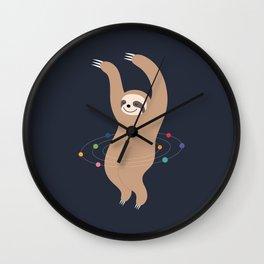 Sloth Galaxy Wall Clock
