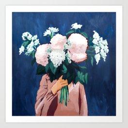 Posy III / Midnight Blooms Art Print