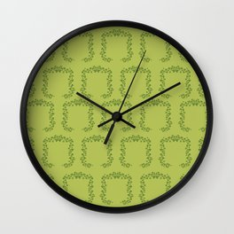 Happy St. Patrick's Day! (clovers) Wall Clock