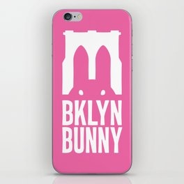 Brooklyn Bunny Logo (Pink) iPhone Skin