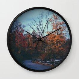 October Road Wall Clock