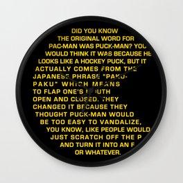 Puck-Man Wall Clock