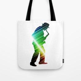 Saxophone player 03 Tote Bag