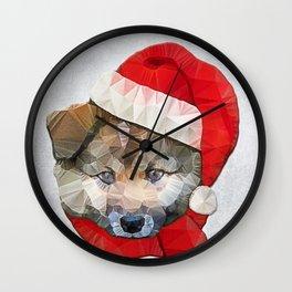 Santa Dog Wall Clock