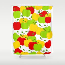 Bunches Of Apples Shower Curtain