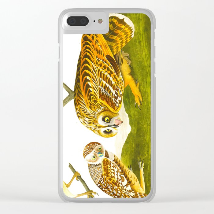 Burrowing Owl Illustration Clear iPhone Case