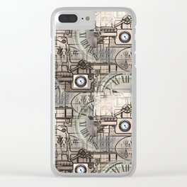 Steampunk Industry Clear iPhone Case