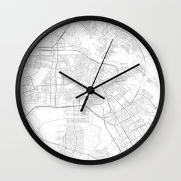 Amsterdam, Netherlands Minimalist Style Map Wall Clock