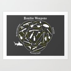 Zombie weapons Art Print