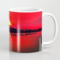 duvet cover Mugs featuring Sunset duvet cover by customgift