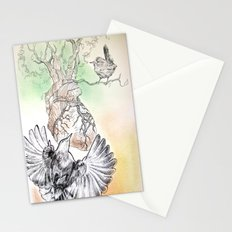 Green Bough, Singing Bird Stationery Cards