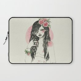 Doll bjd with flowers Laptop Sleeve
