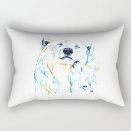 Polar Bear Unconditional Love Rectangular Pillow