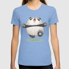 Panda MEDIUM Womens Fitted Tee Tri-Blue