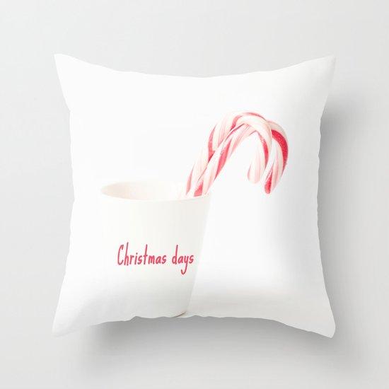 Christmas days Throw Pillow