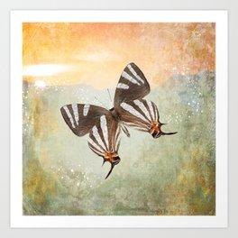 Stardust Butterfly Art Print