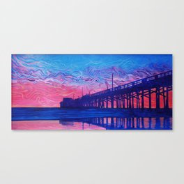 Fire Beyond the Pier Canvas Print