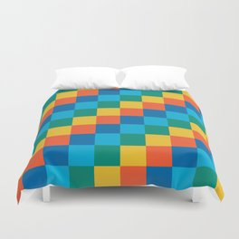 Color me happy - Pixelated Pattern in bright colors Duvet Cover
