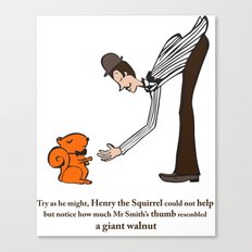 Henry the Squirrel's a Gentleman Canvas Print