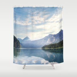 Wanderlust - Mountains, Lake, Forest Shower Curtain