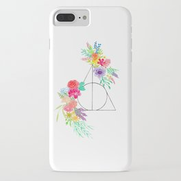 Deathly Hallows Floral iPhone Case