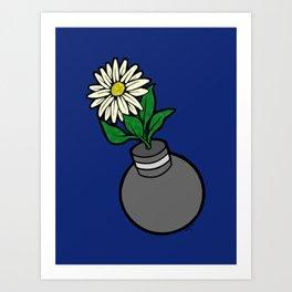 Flower-bomb Art Print